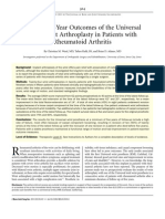 Five to Ten-Year Outcomes of the Universal Total Wrist Arthroplasty in Patients With Rheumatoid Arthritis