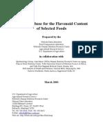 Flavonoids Properties - USDA