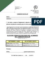 Aceptación Reglamento-turnos-autorizaciones