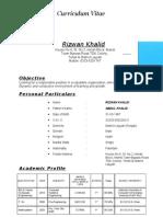 CV Rizwan Khalid