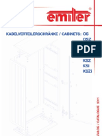 Kabelverteilerschränke / catalogue OS, KS - 2011