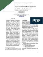A State Space Model for Vibration Based Prognostics