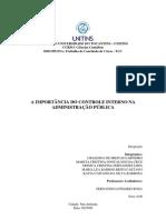 TCC_A IMPORTÂNCIA DO CONTROLE INTERNO NA ADMINISTRAÇÃO PÚBLICA
