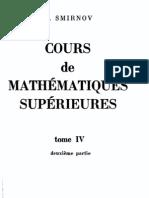 cours de mathematique superieures Tome IV partie 2