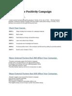 Positivity Campaign Plan
