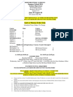 Summer School Course Selection/Application