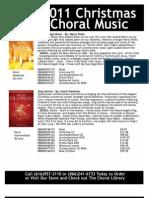 2011 Christmas Choral Music