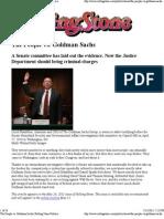The People vs Goldman Sachs