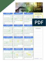Kalender Islam Ummulqura 2010