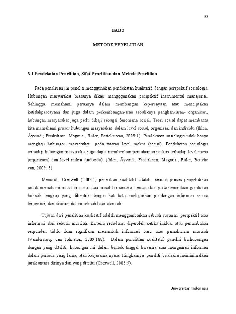 Contoh Makalah Bab 3 Metode Penelitian
