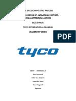 tyco scandal timeline