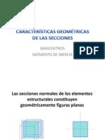 CARACTERGEOM Rgeometricas de Las Secciones