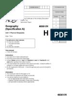 AQA Geography