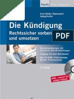 [Haufe] Die Kündigung, Rechtssicher vorbereiten und umsetzen (2007)