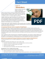 Occupational Therapy's Role in Adult Cognitive Disorders