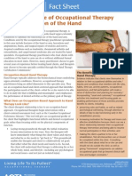 The Unique Role of Occupational Therapy In Rehabilitation of the Hand