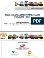 Balanço de 2010 do Transporte Ferroviário de Carga - 26.05.11