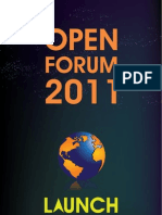 OPEN FORUM 2011 Booklet