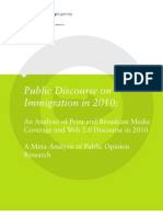 Public Discourse on Immigration in 2010