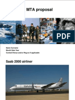 Saab 2000 MTA Proposal To IAF