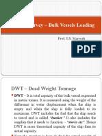 Draft Survey - Bulk Vessels Loading