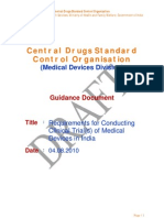 Requirements for Conducting Clinical Trial(s) of Medical Devices in India