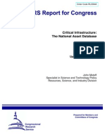Critical Infrastructure the National Asset Database,