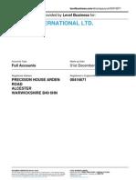 BRIDON INTERNATIONAL LTD.  | Company accounts from Level Business