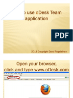 Daryl_Pagsisihan_How to Use oDesk Team Application