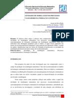 O PAPEL DAS ATIVIDADES DE MODELAGEM NOS PROCESSOS RECONTEXTUALIZADORES DA FORMAÇÃO CONTINUADA