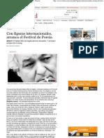Con figuras internacionales, arranca el Festival de Poesía