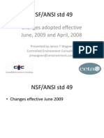 NSF-49 Summary of Changes