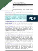 Miguel - Direito Do Trabalho - Fontes Do Direito Do Trabalho