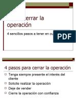 Cómo cerrar la operación
