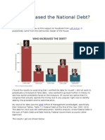 Who Increased the National Debt?