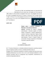 Lei do Ambulante do Município do Rio de Janeiro 1876_1992