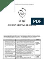 memoria Ejecutiva de Gestión 2006-2011