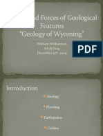 Factors and Forces of Geological Features (Geology of Wyoming)Finalized