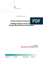Carbon Contracts Cornerstones - Drafting Contracts for the Sale of Project-Based Emissions Reductions