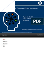 Impact of Web 2.0 on testing and quality management