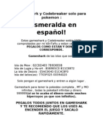 Gameshark y Codebreaker para pokemon esmeralda en español