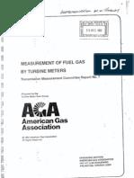 AGA Report 7 Turbine Gas Meter