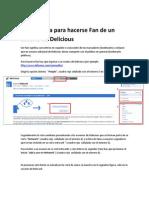 Guía Rápida para hacerse Fan de un usuario de Delicious