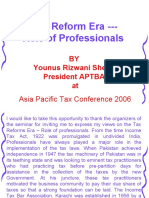 Tax Reform Era Role of Professionals Younus Rizwani Sheikh
