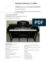 Cavel Digital Piano With Bench