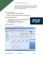 Visio 2003 Professional Basic Tutorial