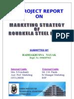 Mkting Strategy of Rulkele Steel Plant