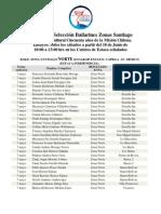 Nomina de Selección Bailarines Zonas Santiago