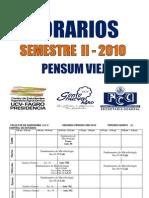 Horarios II-2010 Pensum Viejo FAGRO UCV