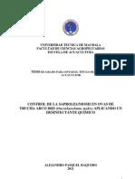 CONTROL DE LA SAPROLEGNIOSIS EN OVAS DE TRUCHA ARCO IRIS (Oncorhynchmus mykis) APLICANDO UN DESINFECTANTE QUÍMICO